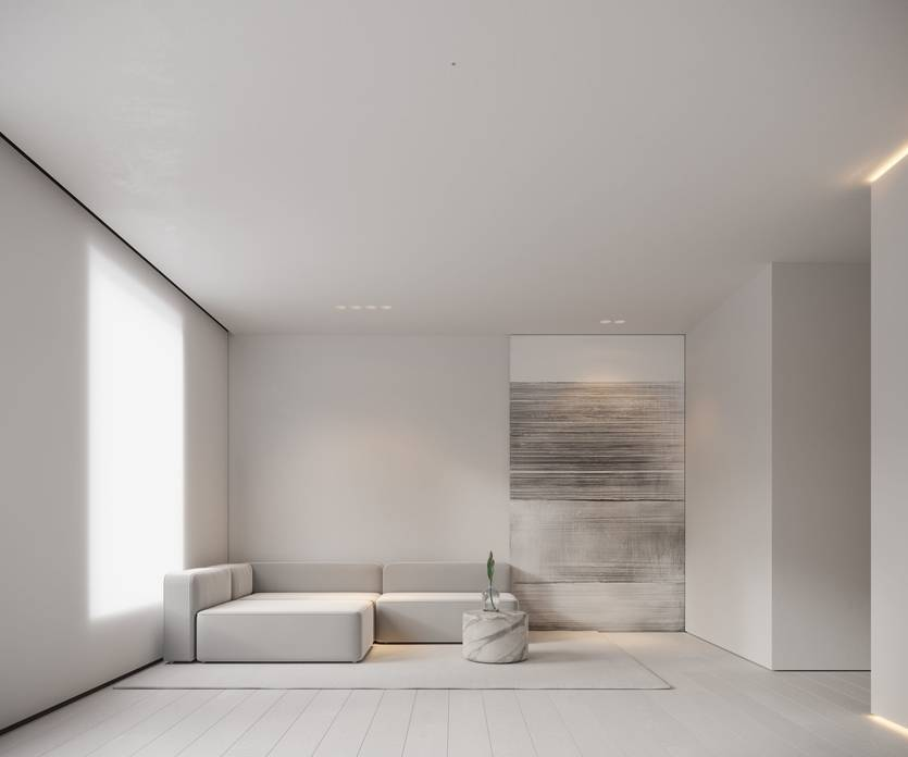 Дизайн и интерьер гостиной в стиле минимализм