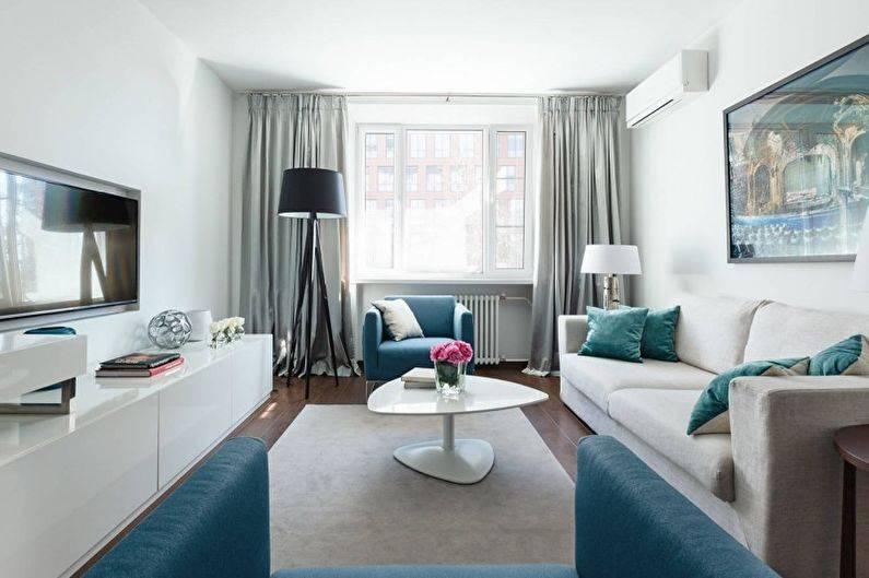 Белая гостиная: 100 фото красивых примеров дизайна интерьера