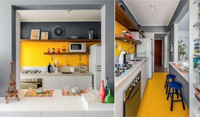 Желтый цвет в интерьере кухни – идеи дизайна (100 фото)
