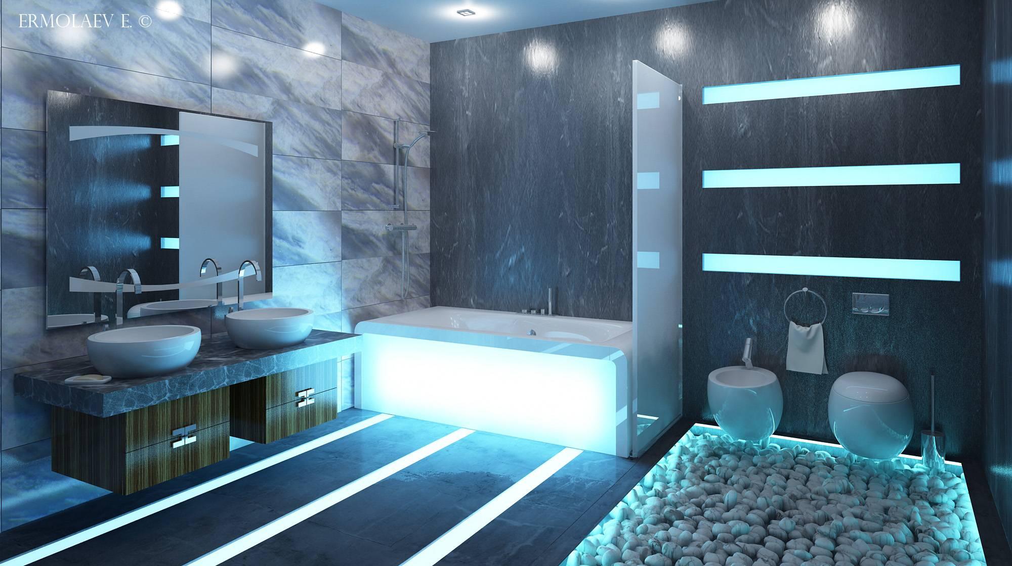 Ванная в стиле хай тек: дизайн   ремонт и дизайн ванной комнаты
