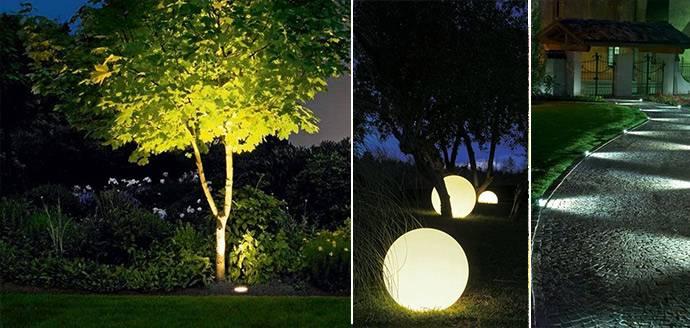 Освещение на участке загородного дома - all4decor