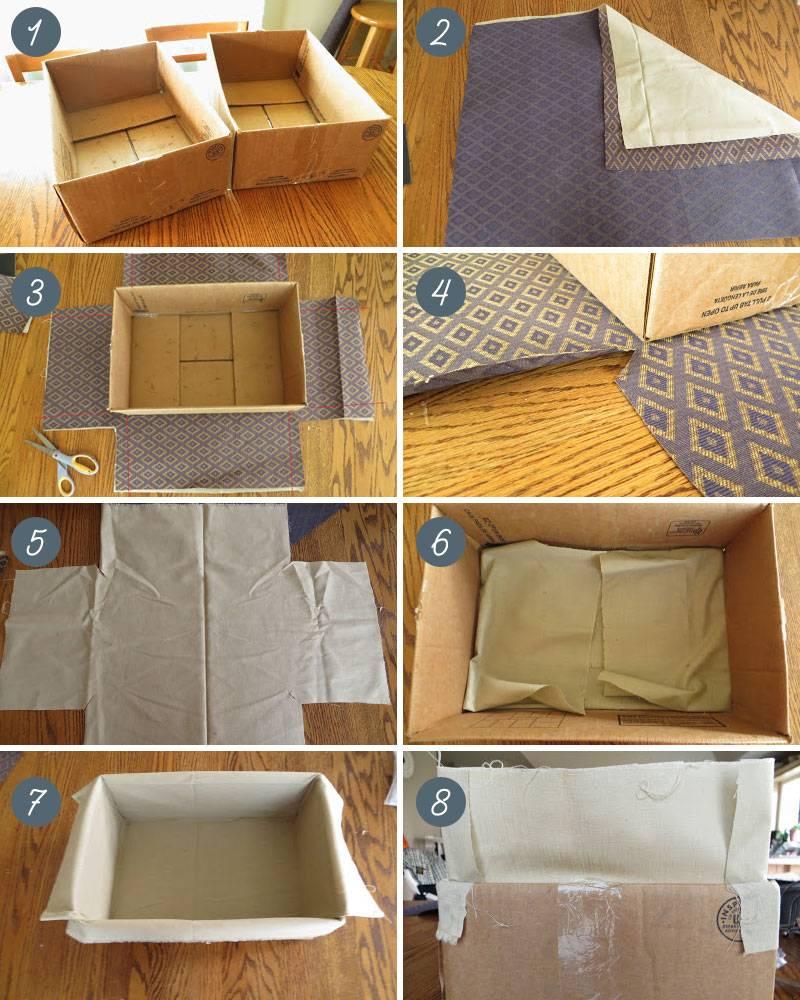 Как украсить картонную коробку своими руками