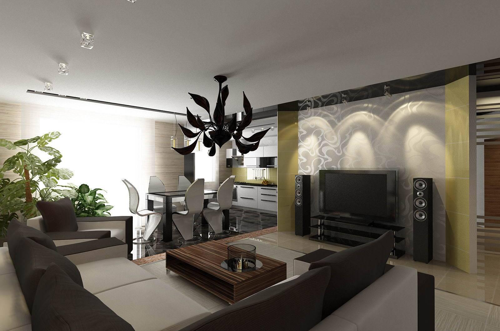 Дизайн кухни-гостиной 20 кв.м: фото и рекомендации