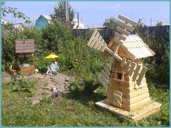 Декоративная мельница для сада своими руками чертежи |  своими руками | postrojkin.ru
