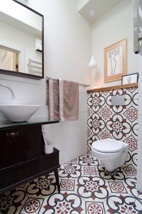 Варианты раскладки плитки в ванной и туалете | домфронт