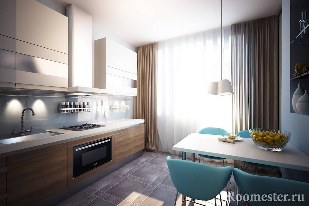 25 идей интерьера кухни с балконной дверью. от 9 до 15 квадратных метров