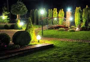 Ландшафтное освещение: виды и организация подсветки территории участка