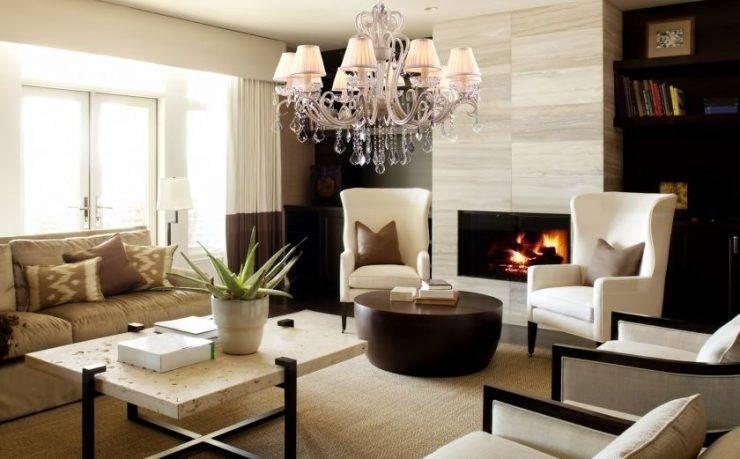 Основные принципы выбора люстры для гостиной комнаты