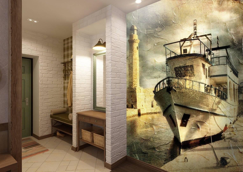Современная отделка в прихожей: стены, полы, потолки