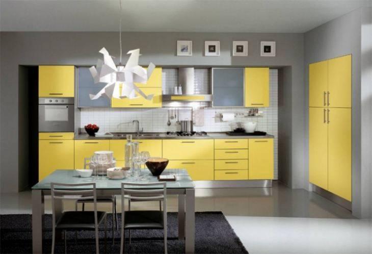 Интерьер кухни желтого цвета