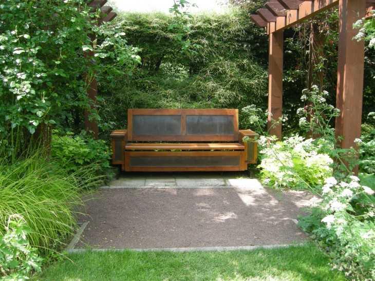 Садовая скамейка со спинкой своими руками: чертежи вариантов