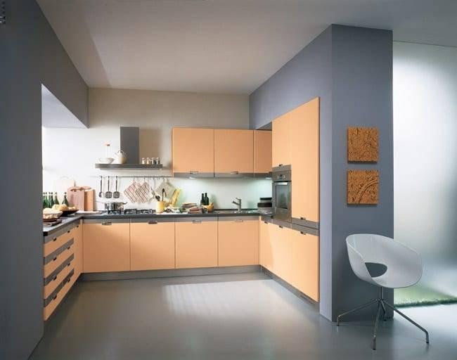 Персиковые кухни: особенности дизайна, цветовые комбинации и примеры
