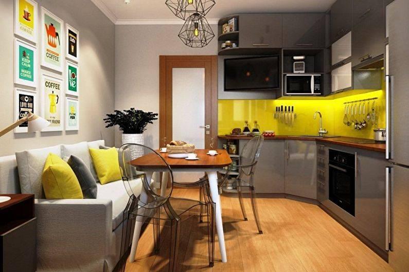 Как оформить интерьер маленькой кухни?