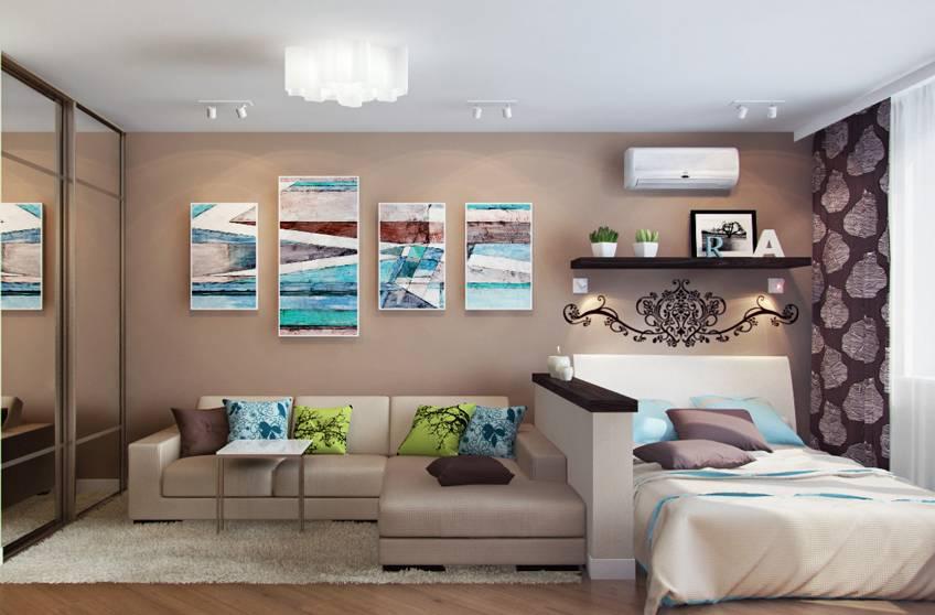 Дизайн спальни 14 кв. м. в современном стиле - 130 фото идей и новинок