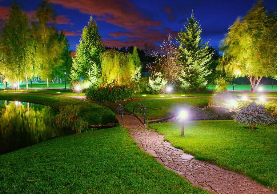 Как оформить освещение участка | пошаговое описание и обзор основных правил светодизайна (125 фото + видео)