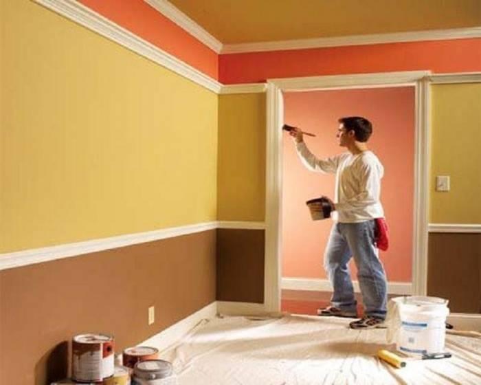 Покраска потолков и стен водоэмульсионной краской своими руками: подготовка, технология нанесения
