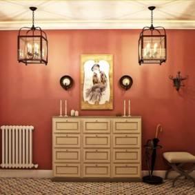 В какие цвета покрасить стены прихожей