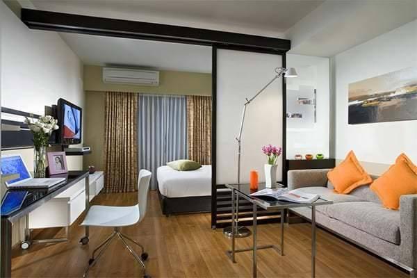 Дизайн спальни 14 кв м — интерьер спальни-гостиной + 45 фото