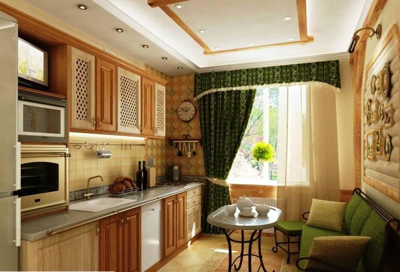 Как обустроить спальное место на кухне?