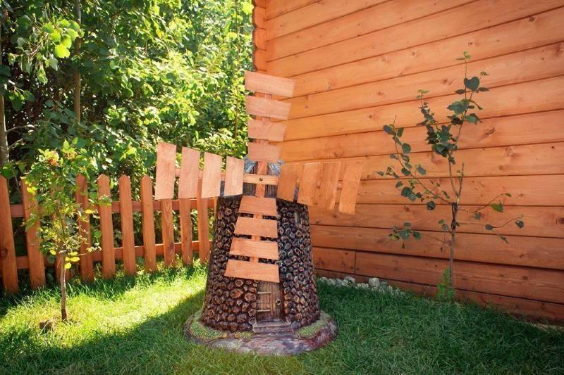 Технология изготовления декоративных мельниц для сада своими руками