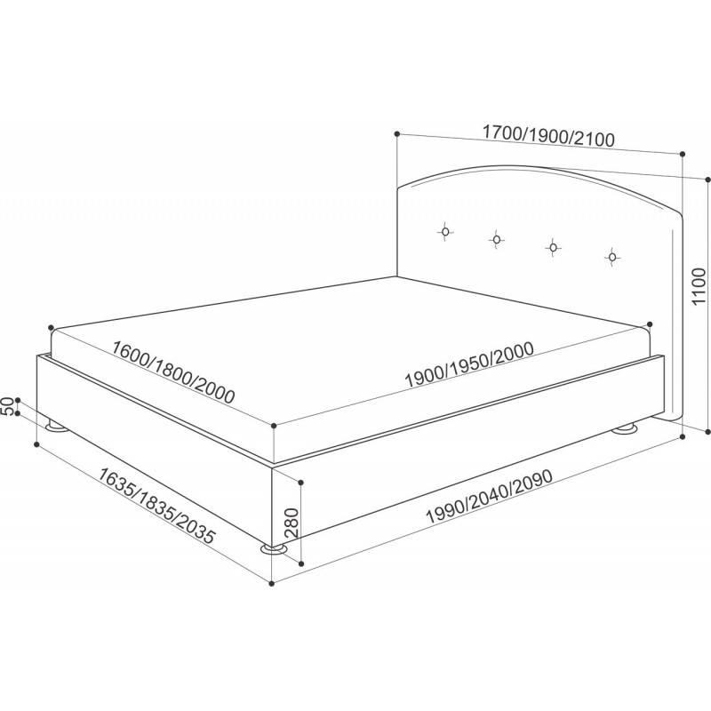 Односпальная кровать размеры, особенности конструкции, разновидности