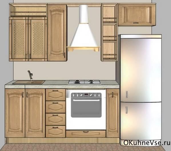 Дизайн узкой длинной кухни (10 реальных фото)