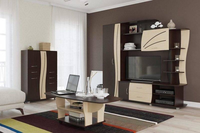 Шкаф-стенка в гостиную: 140+ (фото) красивых & модульных стенок