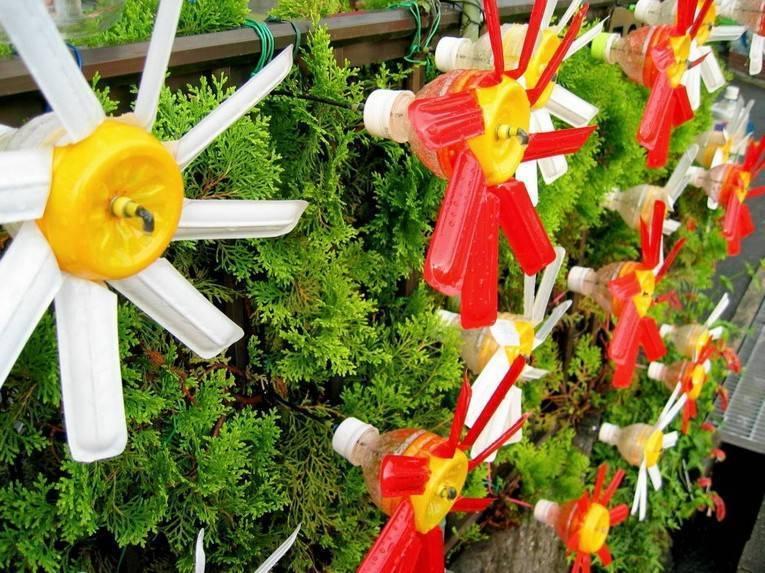 Украшения для сада своими руками - 90 красивых идей (фото)