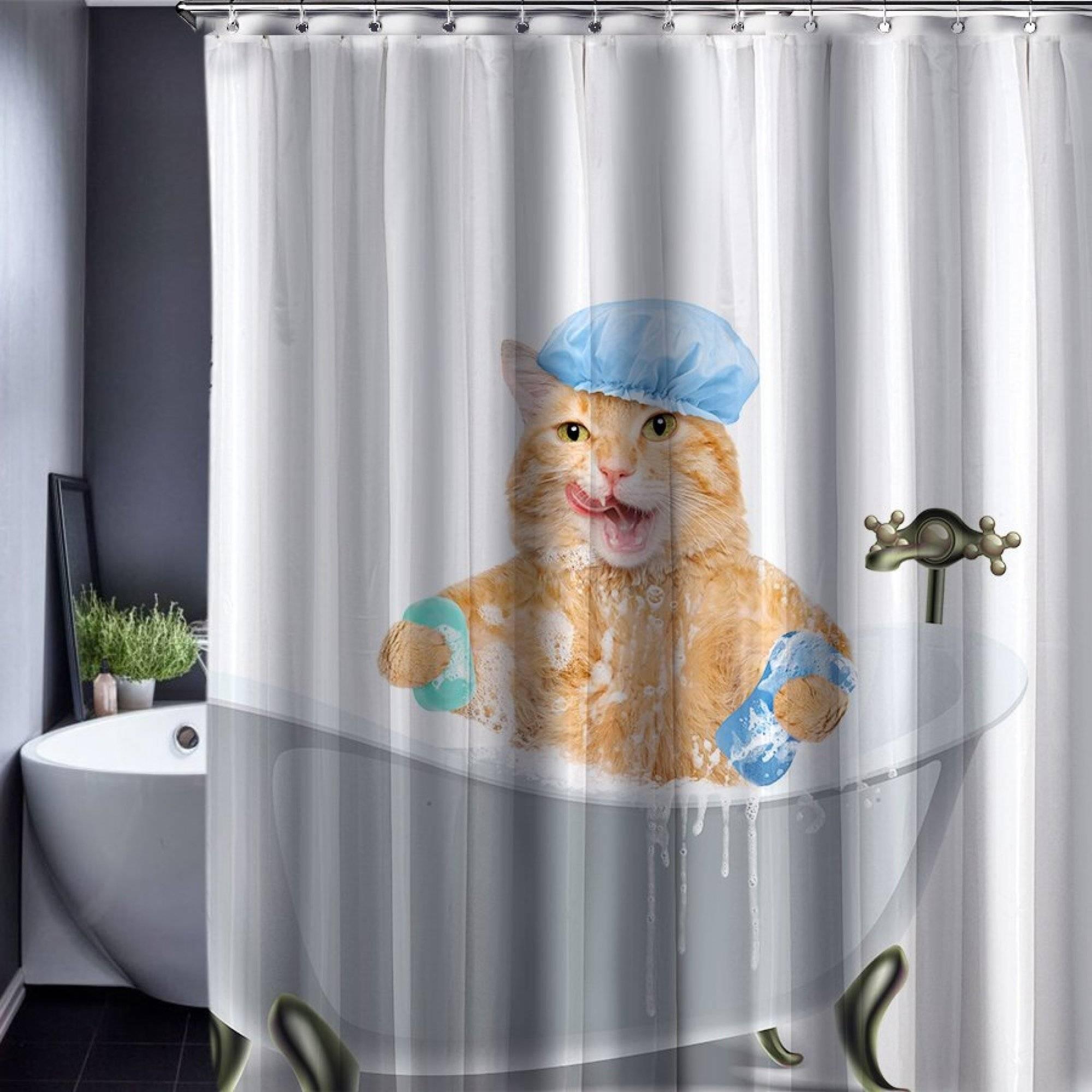 Занавес в ванную комнату — как подобрать под интерьер