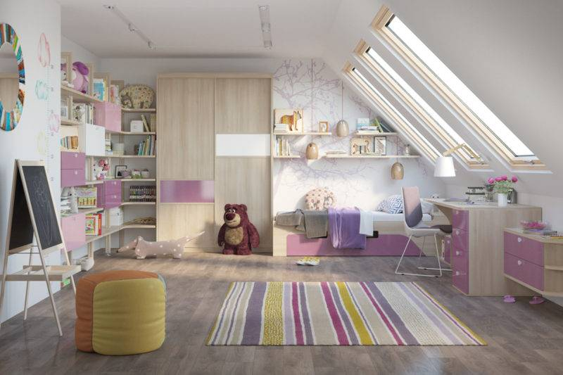 Дизайн детской комнаты: 75 фото практичных и долговечных проектов