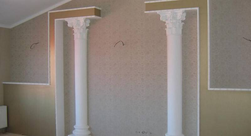 Колонны в интерьере — 90 фото лучших идей изящного дизайна и декора