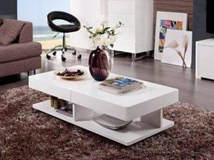 Журнальный стол для гостиной (48 фото): красивый столик в современном интерьере большого зала