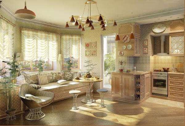 Зал, совмещенный с кухней: фото интерьера и правила обустройства