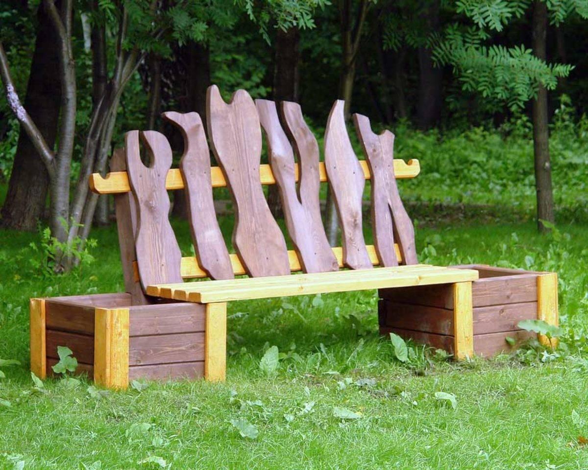 Как сделать скамейку для сада: оригинальные идеи. скамейки из бревна, металла и дерева, досок. чертежи скамеек и 90 фото готовых скамеек в саду
