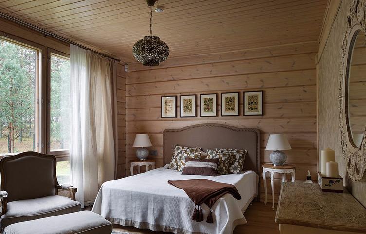 Дизайн красивой спальни в частном доме