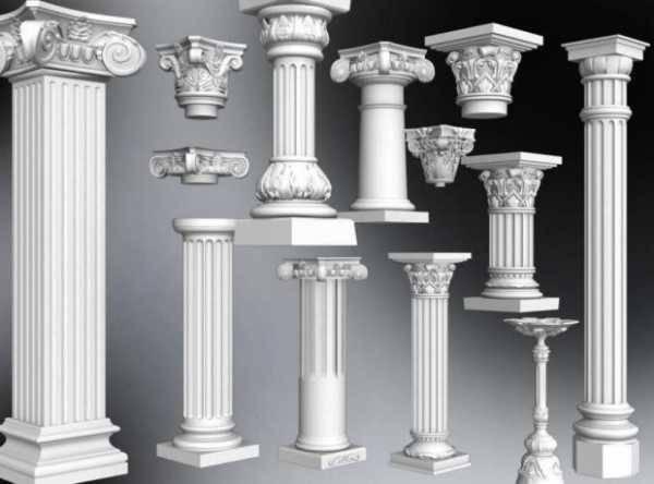 Колонны в интерьере - какие выбрать? фото дизайна интерьера с колонами