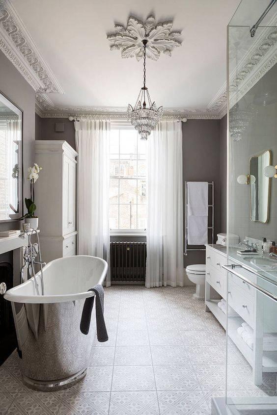 Ванная в классическом стиле. виды применяемой отделки и элементов интерьера