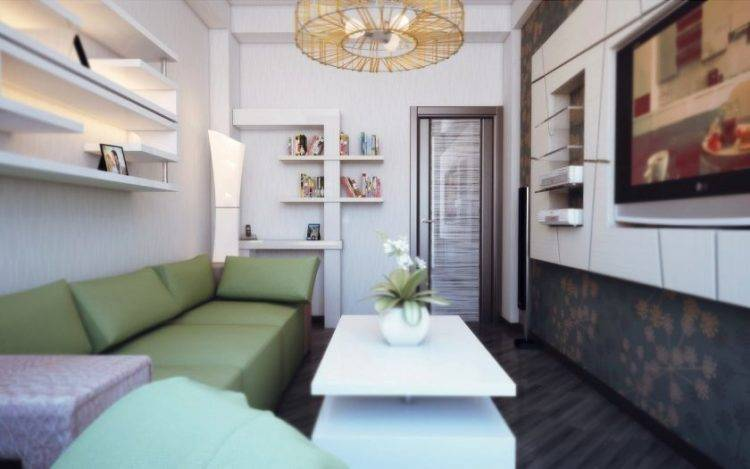 Оформление малогабаритной гостиной комнаты (75 фото)