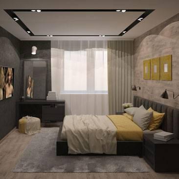 Стиль лофт в интерьере спальной комнаты