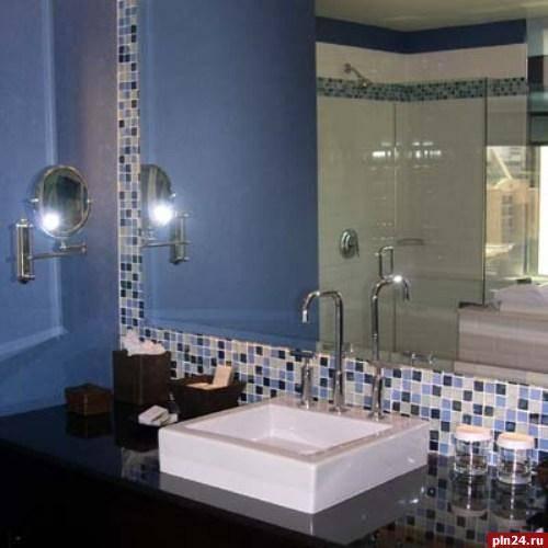 Как выбрать высоту зеркала в ванной над раковиной — советы