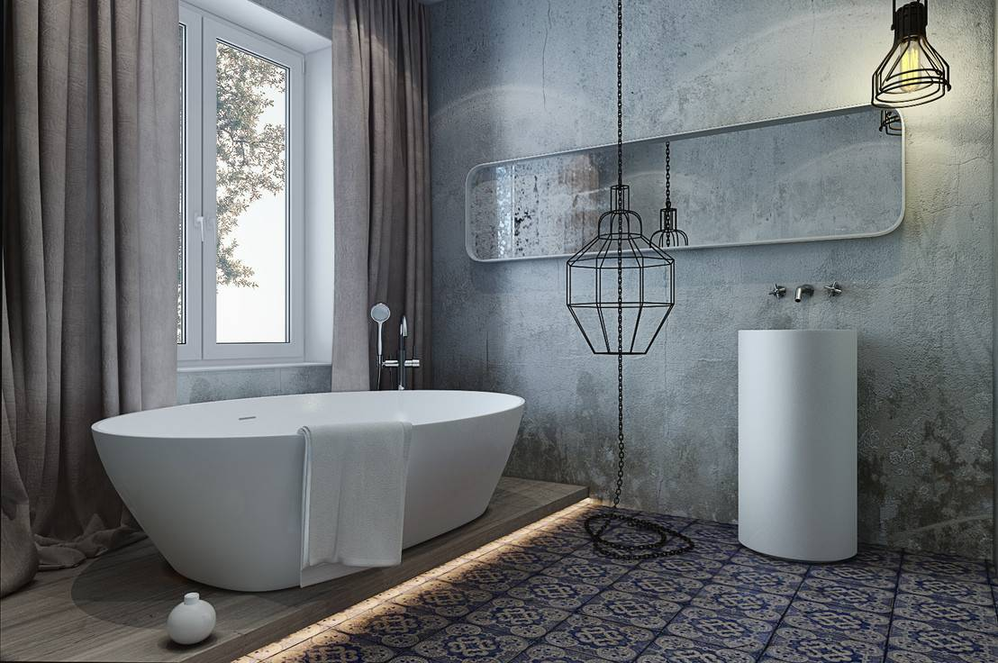 Ванная в стиле лофт - обзор самых простых идей создания популярного стиля для ванной (110 фото)