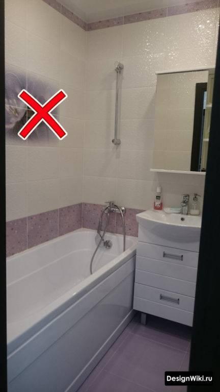 Дизайн ванной комнаты в «хрущевке»