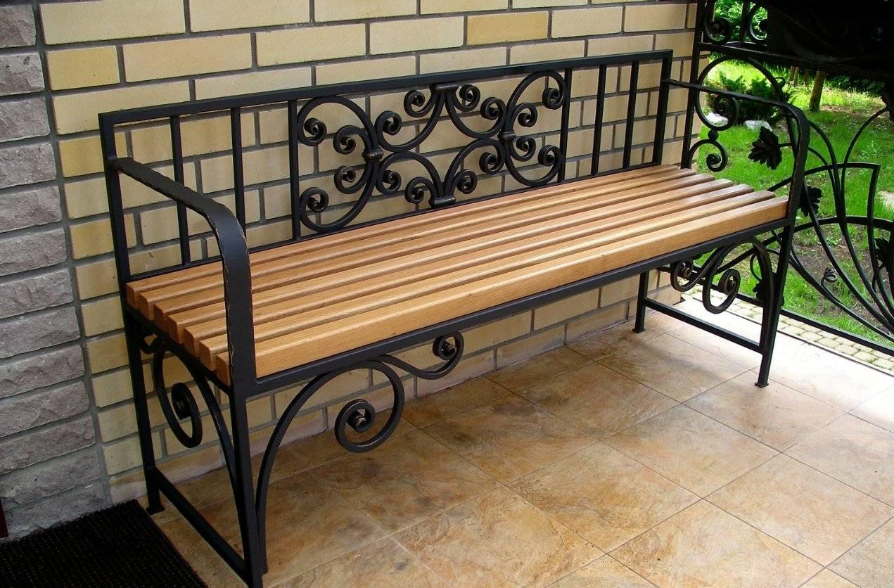 Садовая скамейка со спинкой своими руками: чертежи и фото
