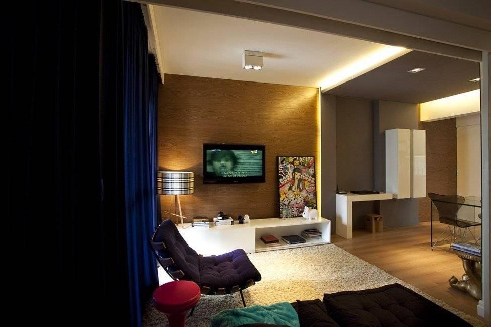 Дизайн однокомнатной квартиры 45 кв. м. 5 фото – проектов – ваш надёжный дом