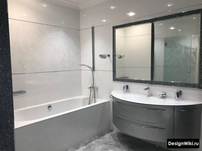 Ванная в современном стиле - особенности и тонкости оформления современных ванных комнат (155 фото)