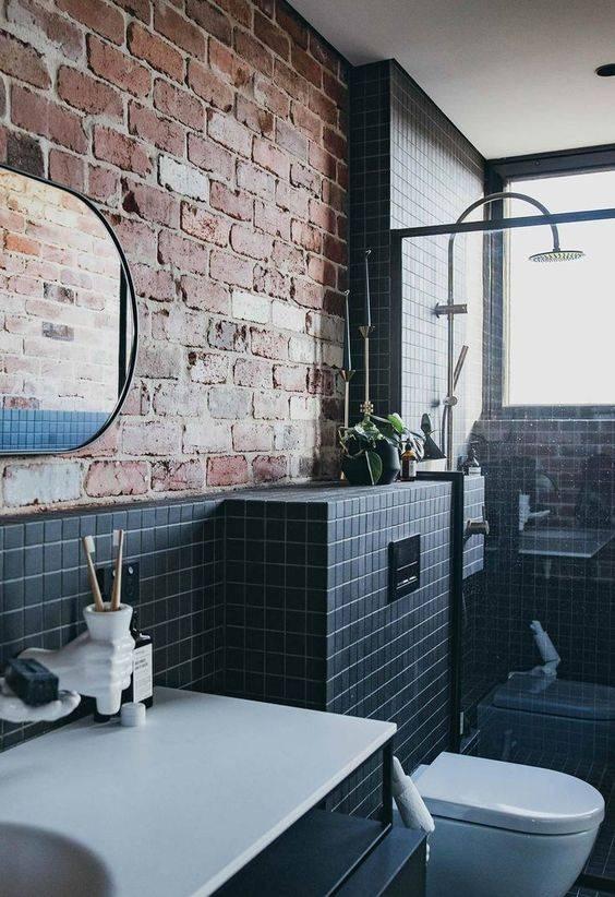 Дизайн ванной в стиле лофт