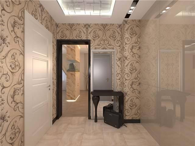 Обои в маленькую прихожую (55 фото): какие лучше выбрать в коридор в квартире? дизайн обоев, зрительно увеличивающих пространство в небольшой прихожей