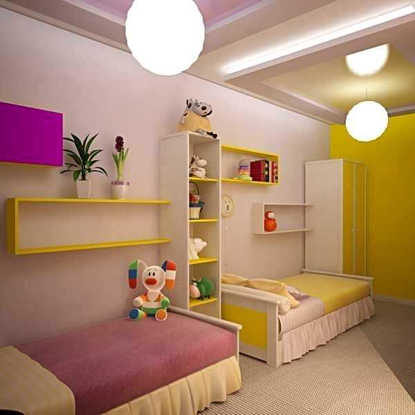 Комната для двух девочек разного возраста, фото
