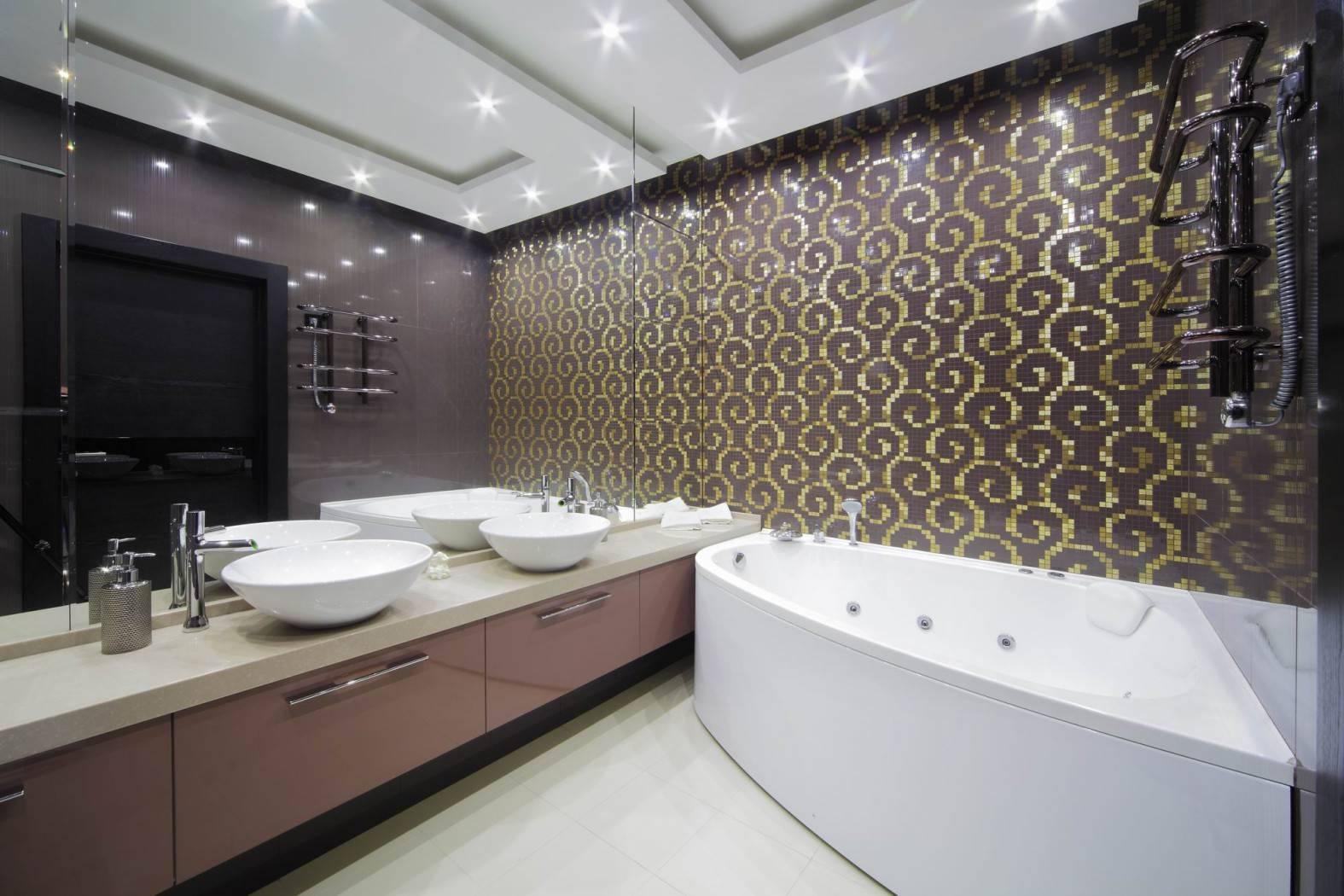 Варианты раскладки плитки в ванной: примеры, сочетания и раскладки, дизайн  - 27 фото