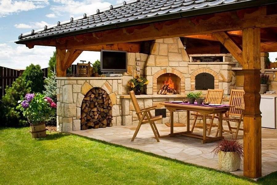 Дизайн зоны отдыха на даче с фото: как своими руками создать проект и обустроить мангальную зону